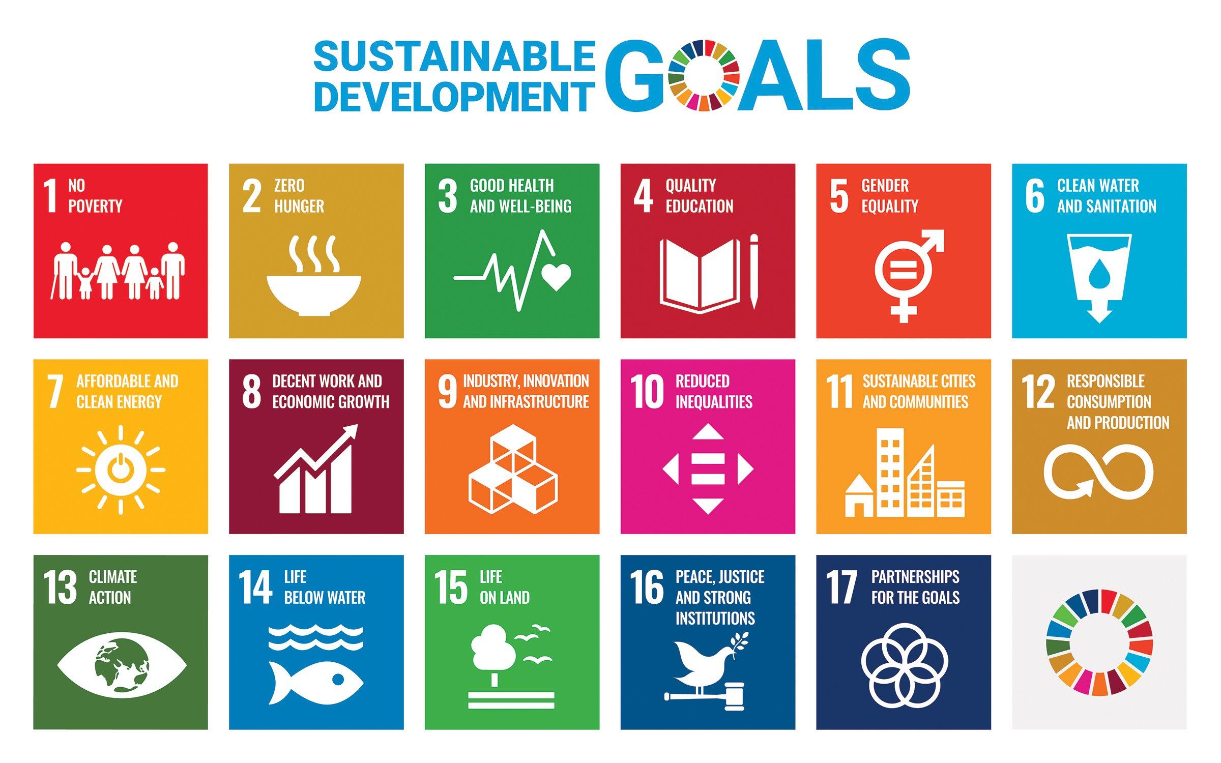 The 17 SDGs.
