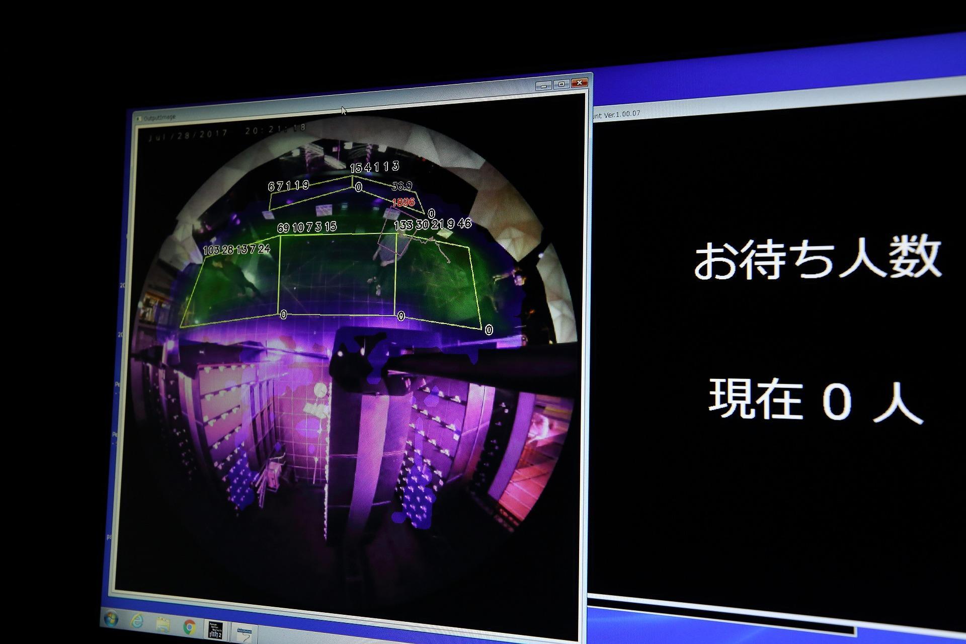Photo of monitoring screen