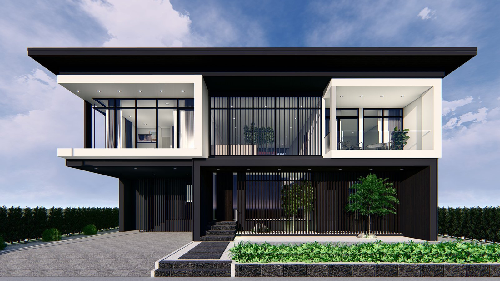 Module construction housing