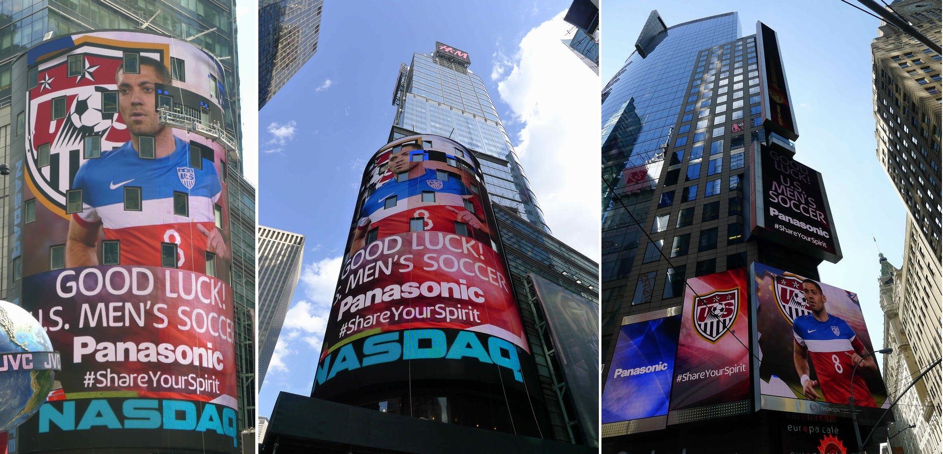 NYタイムズスクエアで開催 USサッカーチーム壮行イベントでパナソニックAVソリューションが活躍