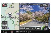 撮影場所と映像の2画面表示イメージ(カーナビ画面)(1)