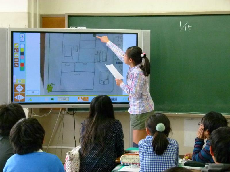 """電子黒板を使った授業 パナソニックの""""ICT""""を活用した教育貢献"""