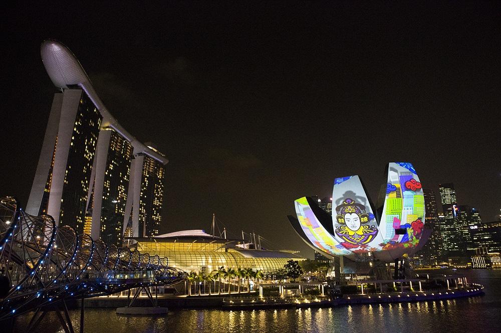 シンガポールの光の祭典「 i Light Marina Bay 2014」