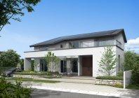 ゼロエネルギーを実現した住宅 パナソニックの「スマートエコイエゼロ」代表プランの外観イメー ジ