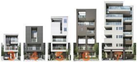 Vieuno7は同一の構造システム・モジュール設計により、3階建から7階建までをシームレスに提案