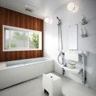 「Theシャワー」コンパクト設計で、従来取り付けできなかった0.75坪の浴室にも設置可能