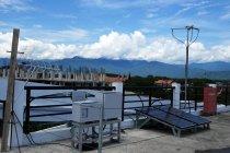 避難所設置を想定 屋外インフラ用創蓄連携システム(太陽光発電、蓄電池、無線、セキュリティカメラ)