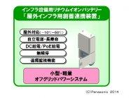 【屋外インフラ用創蓄連携装置】