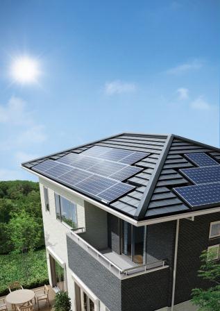 太陽電池モジュールHIT(R)設置イメージ