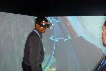 「3Dバーチャルジェットコースターライド」デモ体験の様子