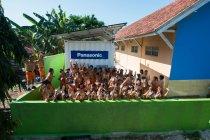 カリムンジャワ島の小学校に設置されたパワーサプライコンテナ