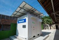 HITソーラーパネル、長寿命サイクル用鉛蓄電池、コントロールユニットで構成された独立電源パッケージ