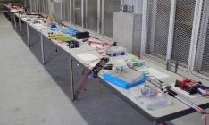 「充電式EVOLTA」40本を使用した各チームの電源