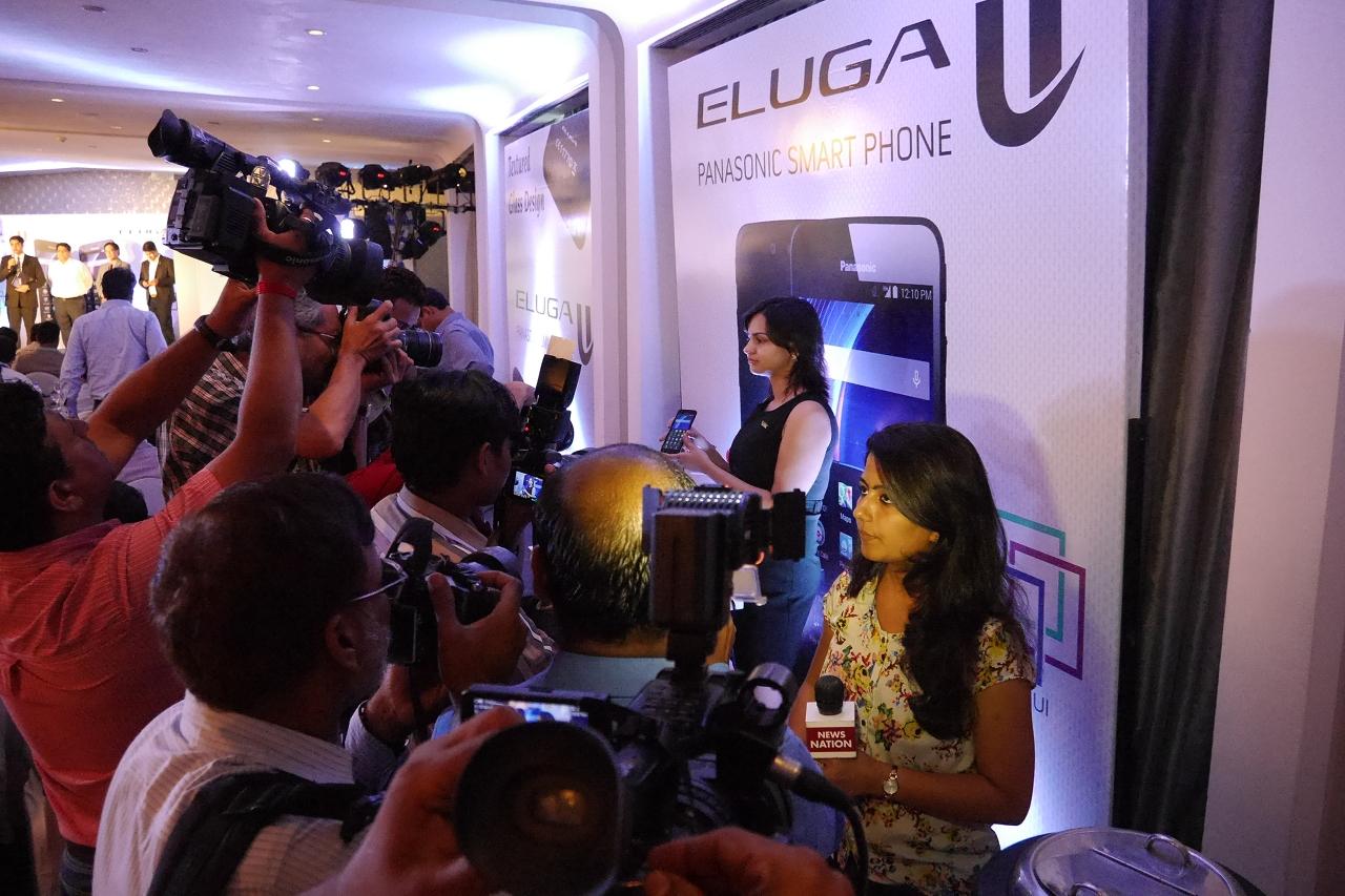 パナソニック インド 「ELUGA U」発表会