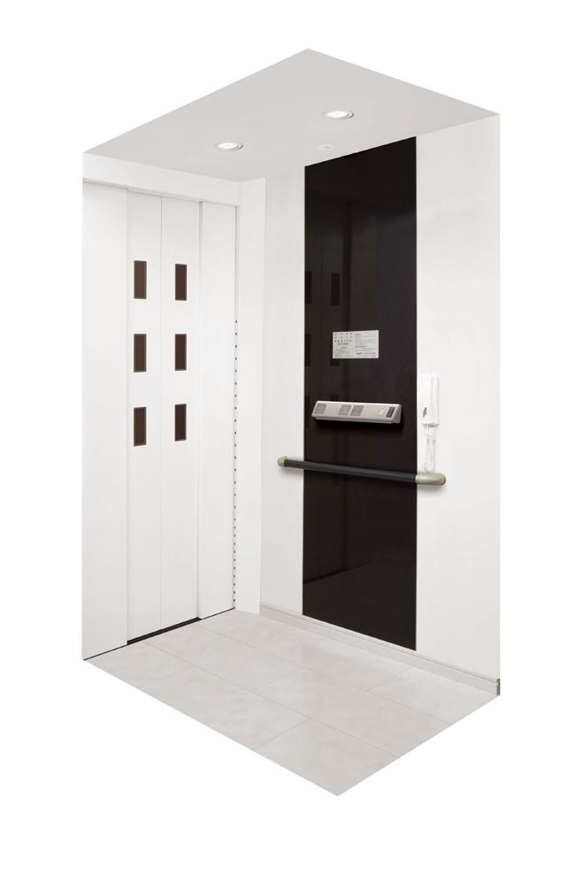 ホームエレベーター「XLミディモダンE」フィブロホワイト柄