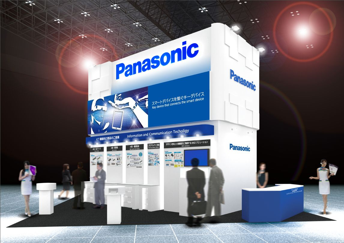 CEATEC JAPAN 2014 パナソニックのデバイス製品ブースイメージ