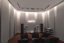 リスニングルーム(予約制)は「Technics」製品の高品位な音楽を体験いただけます。