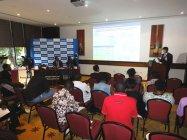 タンザニアでの配線器具など発表会の様子
