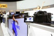 4Kで録画した映像から4K写真が切り出せる。LUMIXやカムコーダーが体験できるシューティングエリア