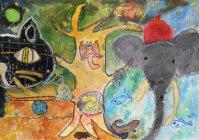 佳作:嶋津円香さん(小学5年生)【第9回環境絵画コンクール】