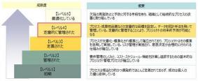 5段階で表されるCMMIの成熟度