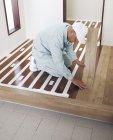 リフォーム用床材「NEW WPBリフォームフロアー」の施工