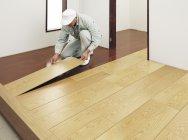 リフォーム床材「6mmリフォームフロアー」の施工