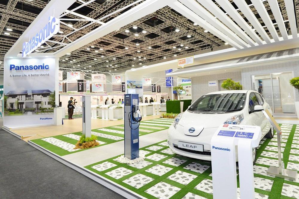 IGEM 2014のパナソニックブースではEV車も展示