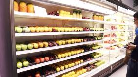 独自技術・Wエアカーテン採用で冷気を内側に閉じ込めて大幅な省エネを実現する冷蔵ショーケース