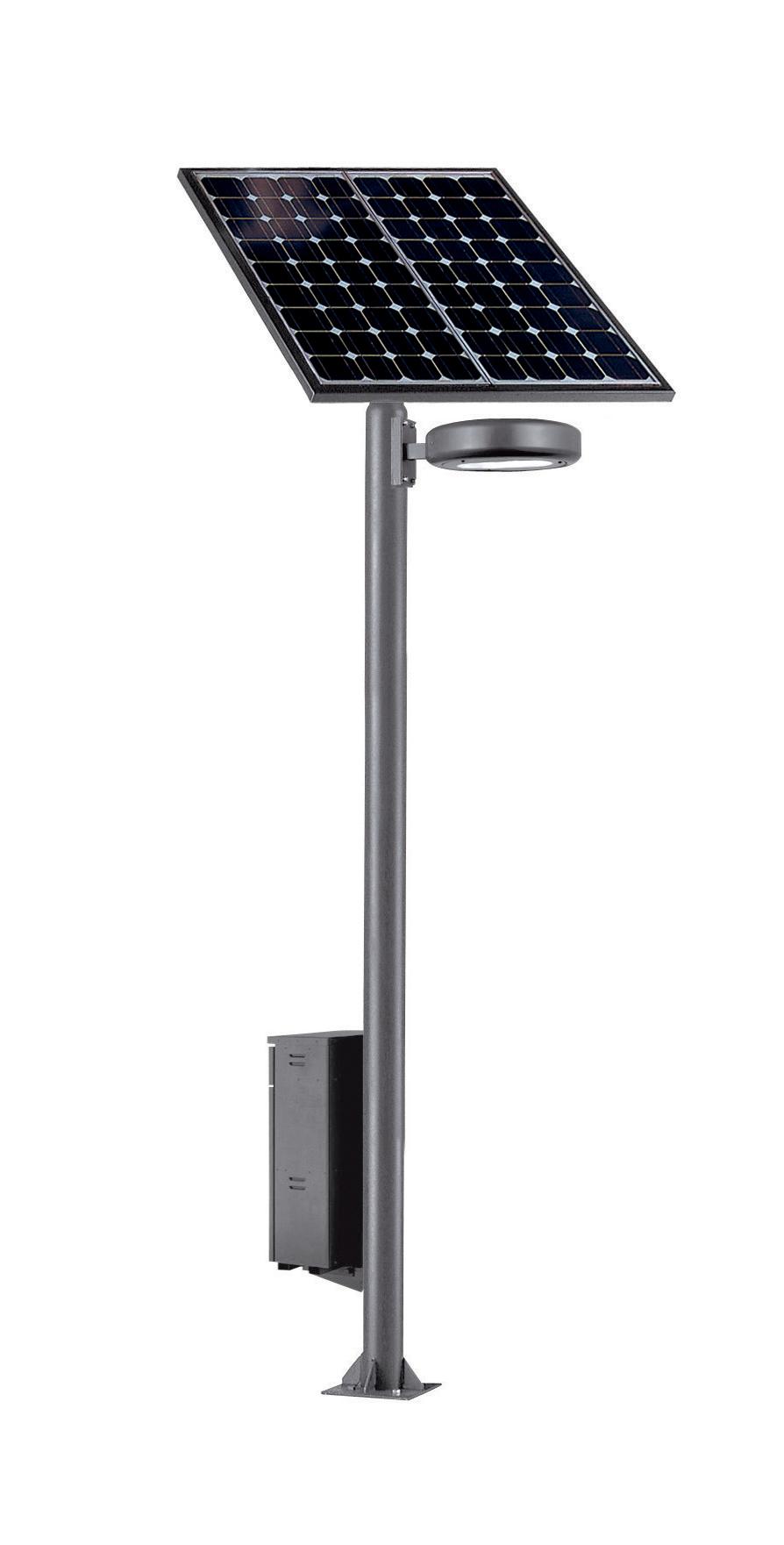 ソーラー街路灯[非常電源機能付]太陽電池パネル2枚タイプ