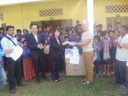 カンボジア無電化地域の小学校で活動する[My Happy Village Cambodia]への寄贈