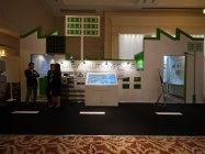 電力インフラが不足している地域向けのソリューションを展示。