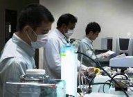 インドの研究所での実験の様子