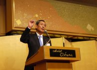 受賞企業を代表して、パナソニック 長榮周作代表取締役会長が挨拶