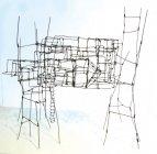「にしもとのりお 針金アート展」作品(2)