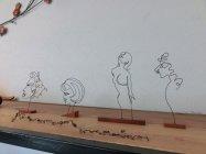 「にしもとのりお 針金アート展」作品(3)