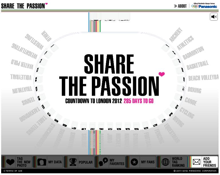パナソニックからデビューしたFacebookアプリ「SHARE THE PASSION」