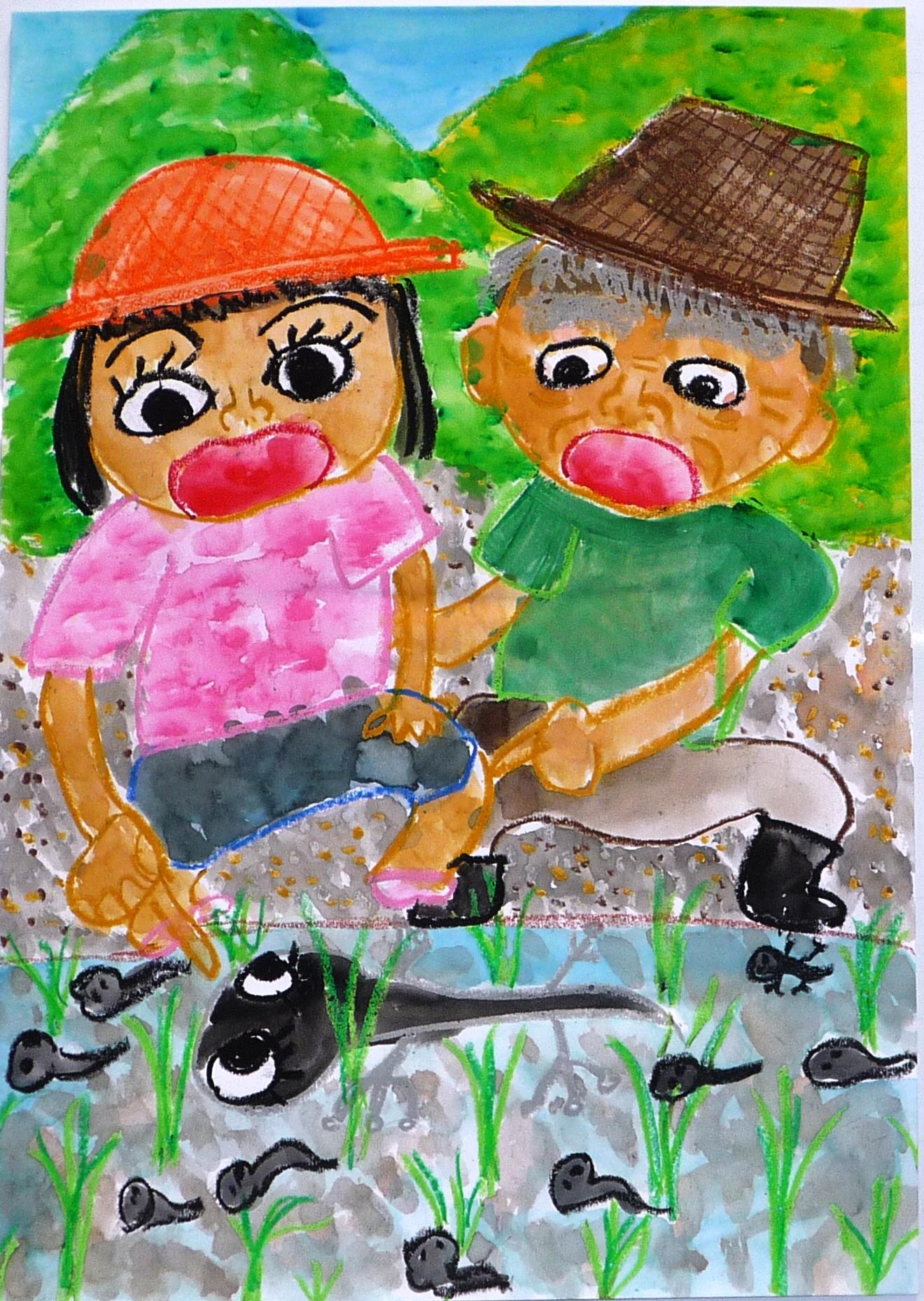 第5回環境絵画コンクール『きれいな空気・水・土と生きものたち』の最優秀賞作品
