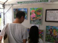 環境絵画コンクール入賞作品展示「春日井まつり」会場