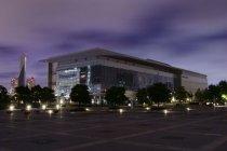 パナソニックセンター東京の大型映像ビジョンの消灯