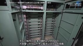 船内に積み込まれたリチウムイオン電池システム