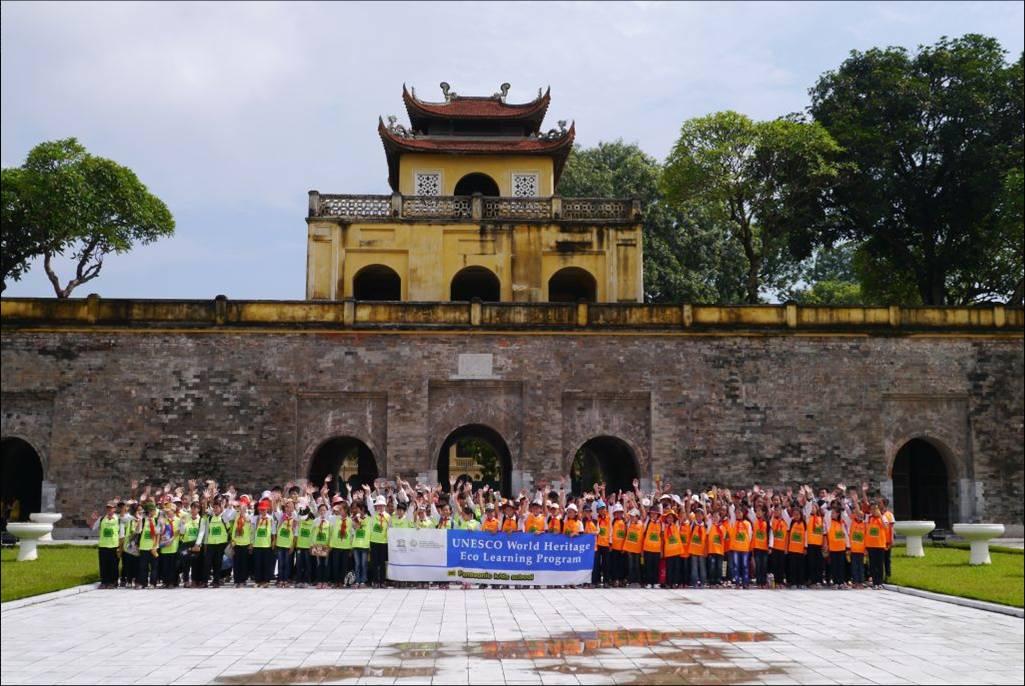 ベトナムの世界遺産のタンロン遺跡で「ユネスコ世界遺産環境学習プログラム」実施