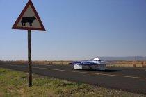 南アフリカの大地を快走する東海大ソーラーカー