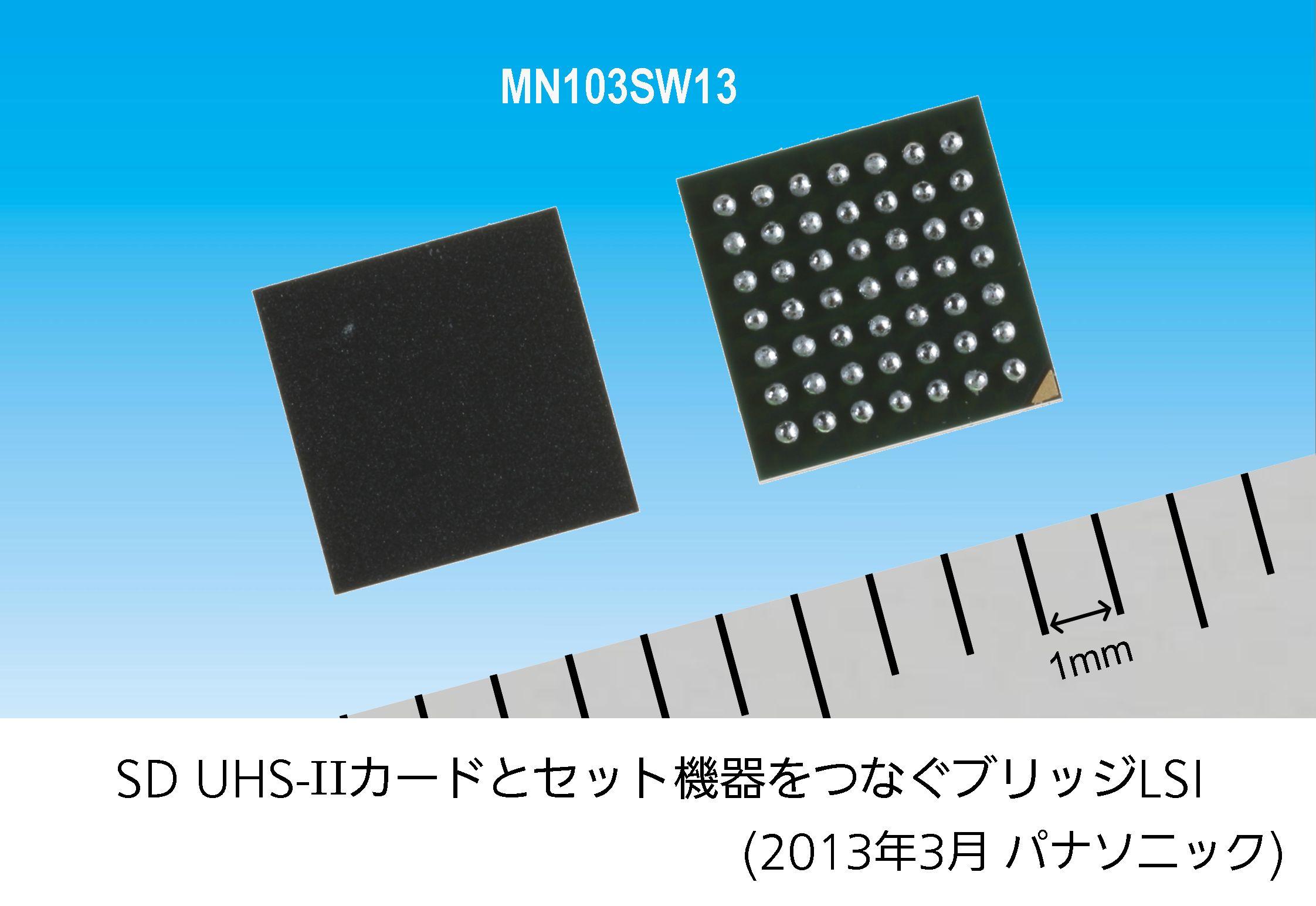 SD UHS-IIカードとセット機器をつなぐブリッジLSI