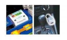 「LifeWINK ベースユニット」(左)、「LifeWINK 車内モニター」装着時(右)