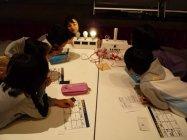 【実験風景】パナソニックの親子LED工作教室
