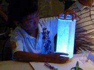 【制作風景】パナソニックの親子LED工作教室