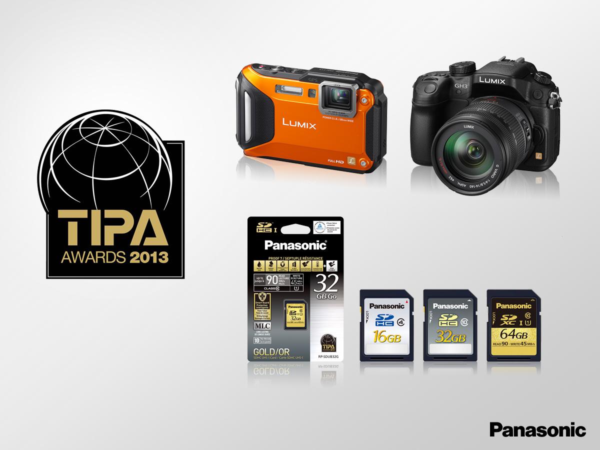 LUMIX GH3, FT5 および SDカード「TIPAアワード2013」受賞