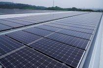 HIT太陽電池 屋上の設置状態