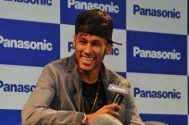 ブラジルで行われた記者会見のトークセッションでのネイマールJr.選手